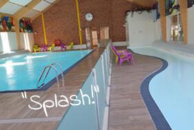 Splash in het zwembad
